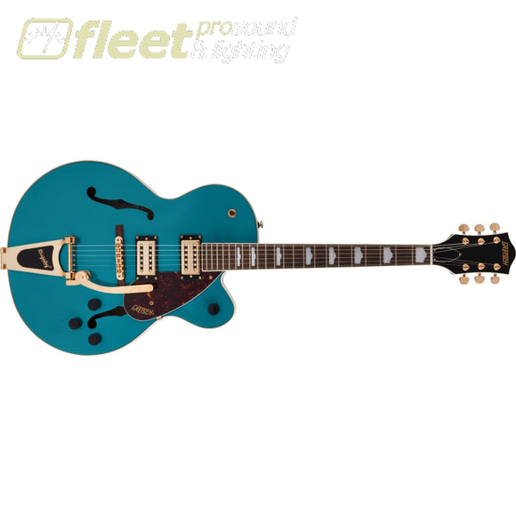 Grestch G2410TG Streamliner Hollow Body Single-Cut with Bigsby and Gold Hardware Laurel Fingerboard Guitar - Ocean Turquoise (2804800508)
