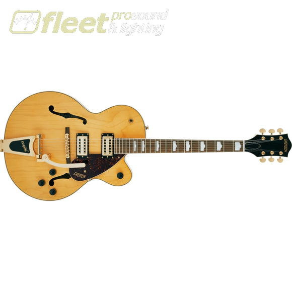 Grestch G2410TG Streamliner Hollow Body Single-Cut with Bigsby and Gold Hardware Laurel Fingerboard Guitar - Village Amber (2804800520)