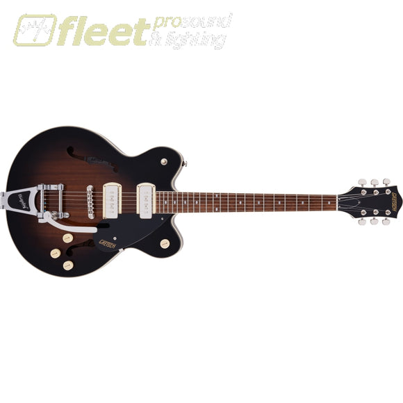 Grestch G2622T-P90 Streamliner Center Block Double-Cut P90 with Bigsby Laurel Fingerboard Guitar - Brownstone (2807500588) HOLLOW BODY
