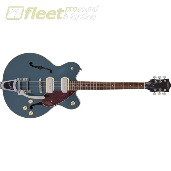 Grestch G2622T-P90 Streamliner Center Block Double-Cut P90 with Bigsby Laurel Fingerboard Guitar - Gunmetal (2807500568) HOLLOW BODY GUITARS