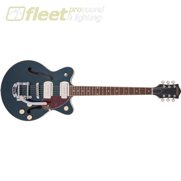 Grestch G2655T-P90 Streamliner Center Block Jr. Double-Cut P90 with Bigsby Laurel Fingerboard Guitar - Two-Tone Midnight Sapphire and