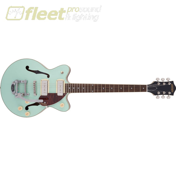 Grestch G2655T-P90 Streamliner Center Block Jr. Double-Cut P90 with Bigsby Laurel Fingerboard Guitar - Two-Tone Mint Metallic and Vintage