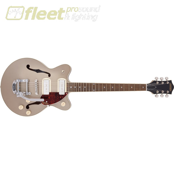 Grestch G2655T-P90 Streamliner Center Block Jr. Double-Cut P90 with Bigsby Laurel Fingerboard Guitar - Two-Tone Sahara Metallic and Vintage