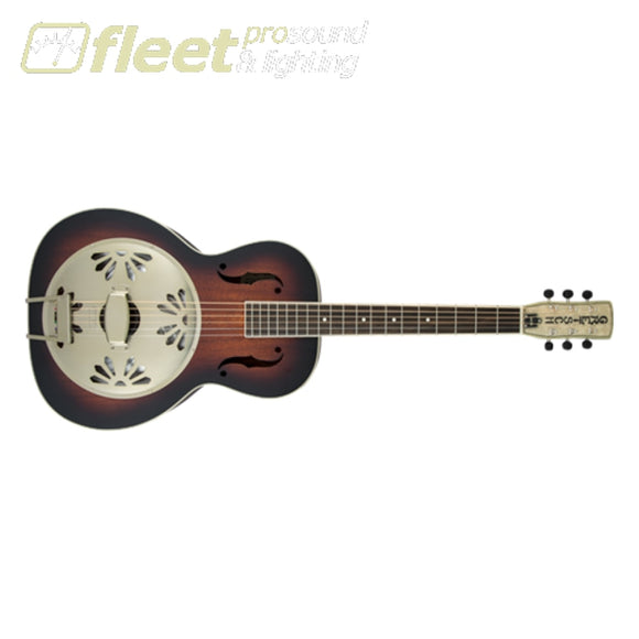 Gretcsh G9240 Alligator Round-Neck Mahogany Body Biscuit Cone Resonator Guitar 2-Color Sunburst (2718013503) Resonator Dobros