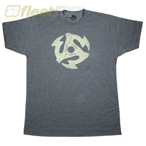 Gretsch 45Rpm T-Shirt In Charcoal - Large Clothing