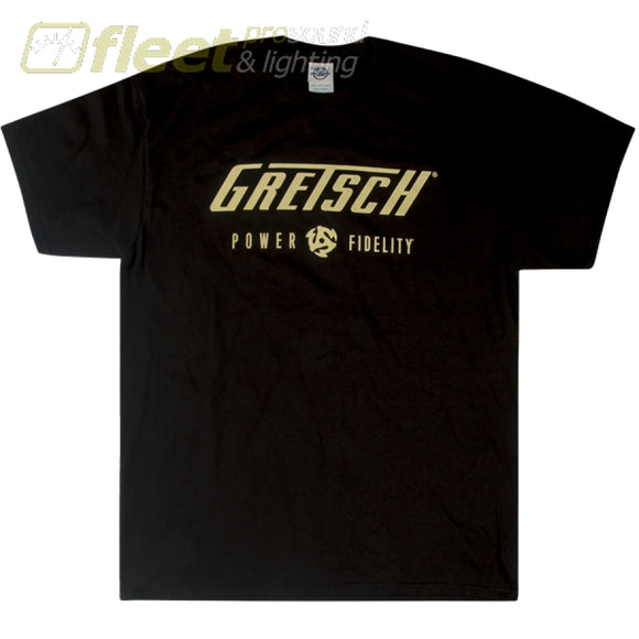 Gretsch 9227638606 Power & Fidelity Logo Shirt - Large CLOTHING