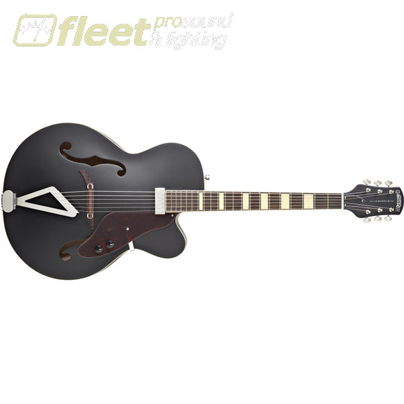 Gretsch G100Bkce Synchromatic Archtop Single-Cut With Synchromatic Tailpiece - Flat Black (2515831506) Hollow Body Guitars