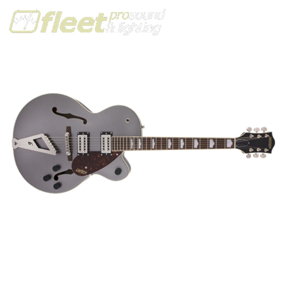 Gretsch G2420 Streamliner Hollow Body with Chromatic II BroadTron BT-2S Pickups Laurel Fingerboard Guitar - Phantom Metallic (2804700569)
