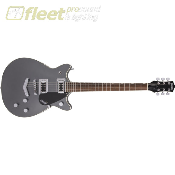 Gretsch G5222 Electromatic Double Jet BT with V-Stoptail Laurel Fingerboard Guitar - London Grey (2509310540) SOLID BODY GUITARS
