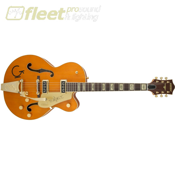 Gretsch G6120T-55 Vintage Select Edition '55 Chet Atkins Hollow Body with Bigsby Guitar - Vintage Orange Stain Lacquer (2401357822) HOLLOW