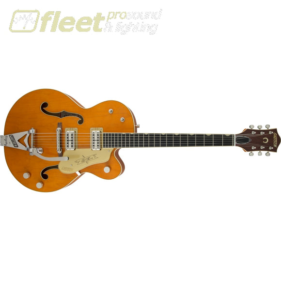 Gretsch G6120T-59 Vintage Select Edition '59 Chet Atkins Hollow Body with Bigsby Guitar - Vintage Orange Stain Lacquer (2401353822) HOLLOW