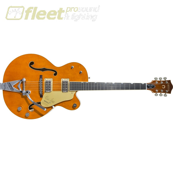 Gretsch G6120T-BSSMK Brian Setzer Signature Nashville Hollow Body '59 Smoke with Bigsby Ebony Fingerboard - Smoke Orange (2401210812) HOLLOW