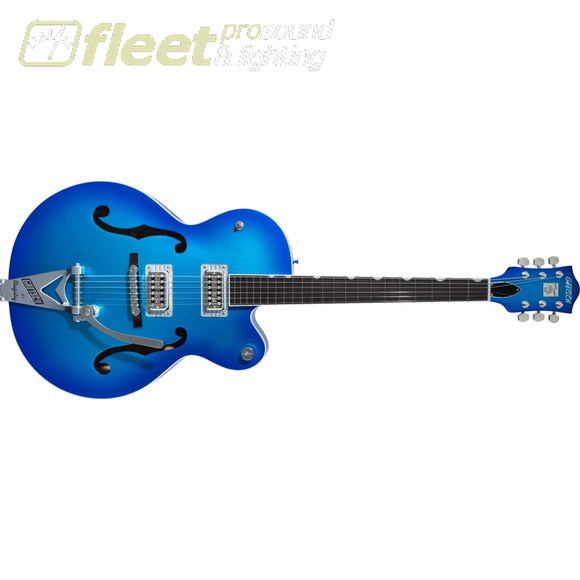 Gretsch G6120T-HR Brian Setzer Signature Hot Rod Hollow Body with Bigsby Rosewood Fingerboard Guitar - Candy Blue Burst (2401215836) HOLLOW