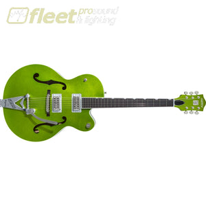 Gretsch G6120T-HR Brian Setzer Signature Hot Rod Hollow Body with Bigsby Rosewood Fingerboard Guitar - Extreme Coolant Green Sparkle