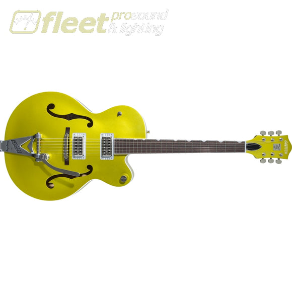 Gretsch G6120T-HR Brian Setzer Signature Hot Rod Hollow Body with Bigsby Rosewood Fingerboard Guitar - Lime Gold (2401215819) HOLLOW BODY