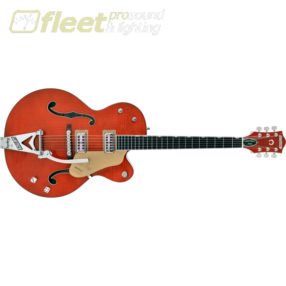 Gretsch G6120TFM-BSNV Brian Setzer Signature Nashville® Hollow Body with Bigsby and Flame Maple Ebony Fingerboard Guitar - Orange Stain
