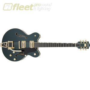 Gretsch G6609TG Players Edition Broadkaster Center Block Double-Cut with String-Thru Bigsby and Gold Hardware Guitar - Cadillac Green