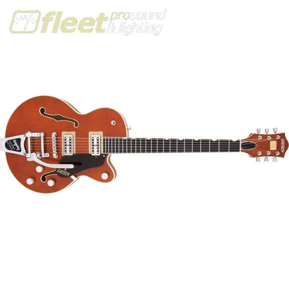 Gretsch G6659T Players Edition Broadkaster Jr. Center Block Single-Cut with String-Thru Bigsby Ebony Fingerboard Guitar - Roundup Orange