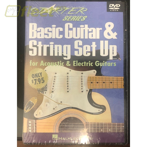 Hal Leonard Starter Series Baic Guitar & String Set Up INSTRUCTIONAL DVDS