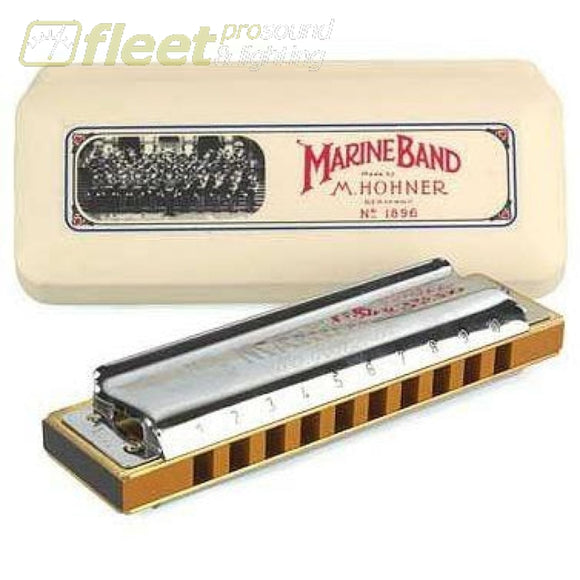 Hohner Marine Band 1896/b Diatonic Harmonica Hand Crafted - Key Of B Harmonicas