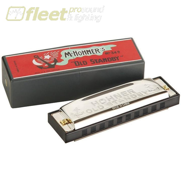 Hohner Old Standby 34B/bf Diatonic Classic Beginners Harmonica - Key Of B-Flat Harmonicas