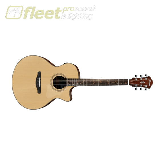 Ibanez AE275-LGS Spruce Top w/ Magnetic Pus Guitar - Natural Low Gloss 6 STRING ACOUSTIC WITH ELECTRONICS