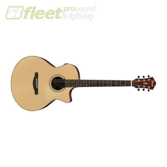 Ibanez AE275BT-LGS Solid Spruce Top Baritone Guitar - Natural Low Gloss 6 STRING ACOUSTIC WITH ELECTRONICS