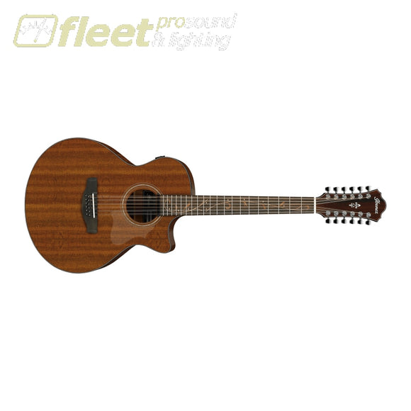 Ibanez AE2912-LGS Spruce Top 12 String Guitar - Natural Low Gloss 12 STRING ACOUSTICS