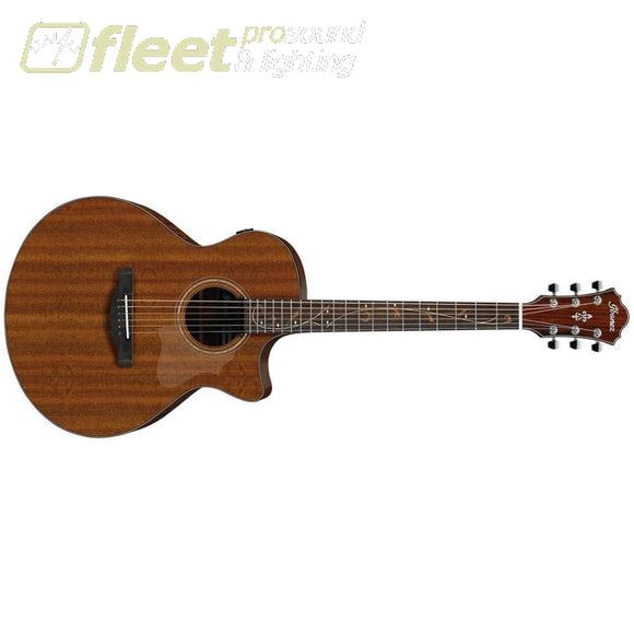 Ibanez AE295-LGS Solid Okume Top Guitar - Low Gloss Natural 6 STRING ACOUSTIC WITH ELECTRONICS