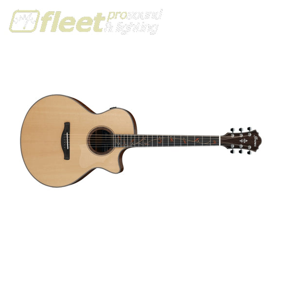 Ibanez AE325-LGS Solid Spruce Dual Output Guitar - Low Gloss Natural 6 STRING ACOUSTIC WITH ELECTRONICS