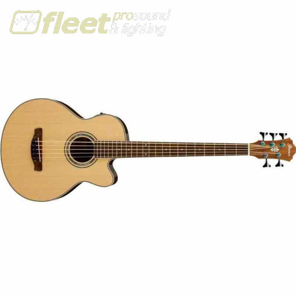 Ibanez Aeb105E-Nt Ae Acoustic 5 String Bass Guitar - Natural Acoustic Basses