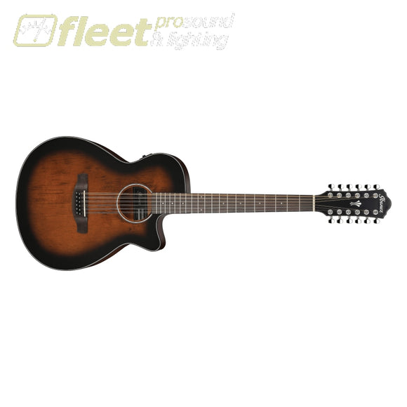 Ibanez AEG5012DVH 12-String Acoustic Guitar - Dark Violin Sunburst 12 STRING ACOUSTICS