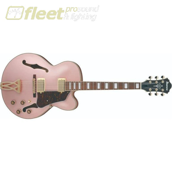 Ibanez AF75G-RGF Artcore Hollowbody Electric Guitar - Rose Gold Metallic Flat HOLLOW BODY GUITARS