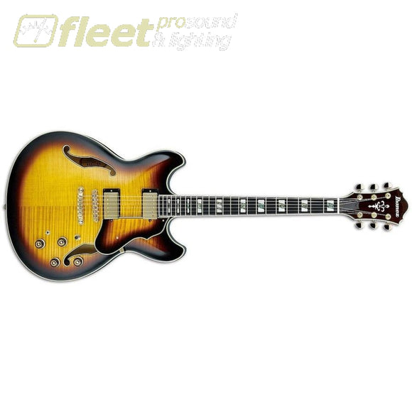 Ibanez AS153-AYS Semi-Hollow Body Electric Guitar HOLLOW BODY GUITARS