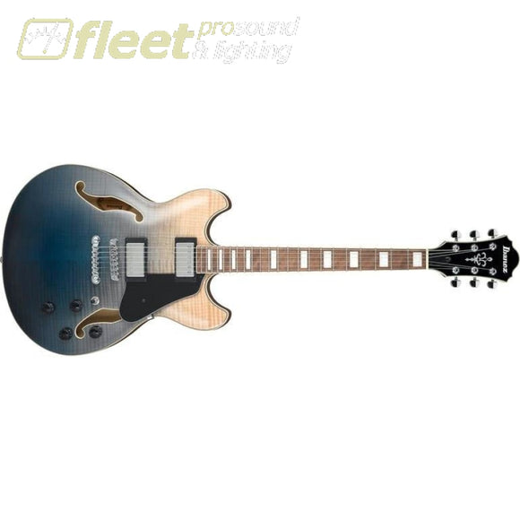 Ibanez AS73FM-TIF Artcore Semi-Hollow Electric Guitar - Transparent Indigo Fade HOLLOW BODY GUITARS