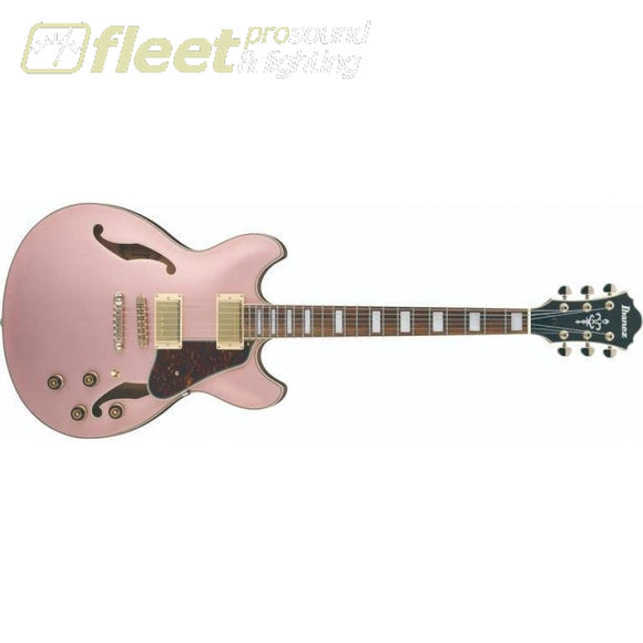 Ibanez AS73G-RGF Artcore Semi-Hollow Electric Guitar - Rose Gold Metallic Flat HOLLOW BODY GUITARS