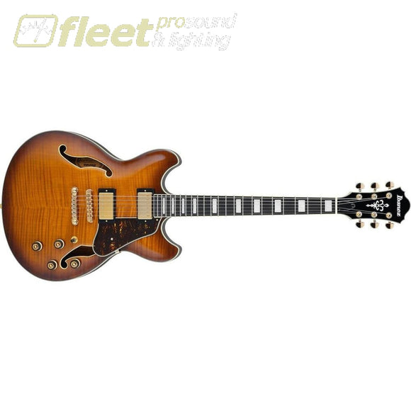 Ibanez As93Fm-Vls Artcore Expressionist Series Hollow-Body Electric Guitar (Violin Sunburst) Hollow Body Guitars