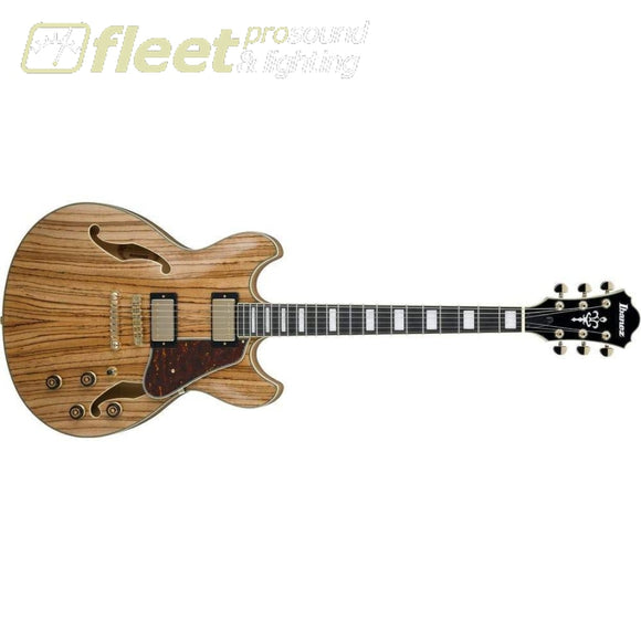 Ibanez As93Zw-Nt Semi-Hollow Electric Guitar - Natural Hollow Body Guitars