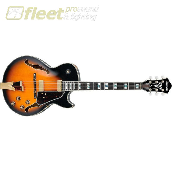 Ibanez Gb10Se-Bs George Benson Signature Series Electric Guitar (Brown Sunburst) Hollow Body Guitars