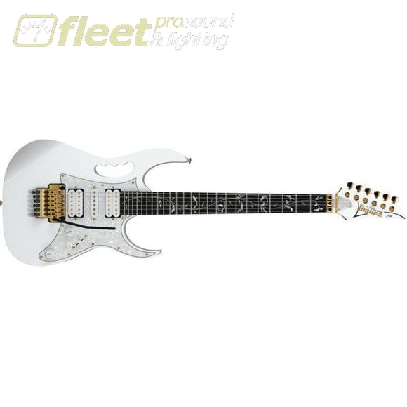 Ibanez Jem7Vp-Wh Jem Premium Signature 6 String Guitar - White W/ Gig Bag Locking Tremelo Guitars