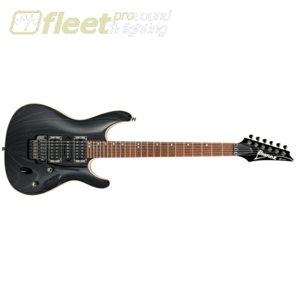 Ibanez S570AH-SWK Guitar - Silver Wave Black LOCKING TREMELO GUITARS