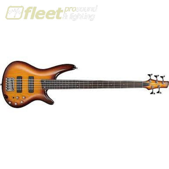 Ibanez SR375EFBBT SR Standard 5 Sting Bass - Brown Burst 5 STRING BASSES