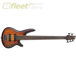 Ibanez Srf705-Bbf Workshop 5 String Bass Guitar Brown Burst Flat Fretless Basses