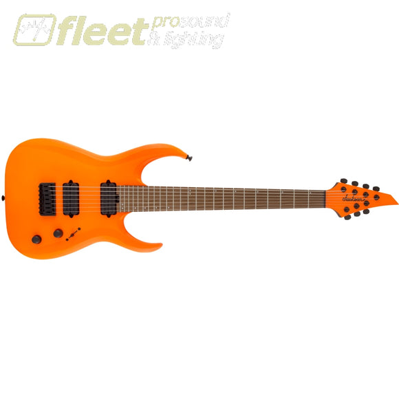 Jackson HT7 Pro Series Signature Misha Mansoor Juggernaut Caramelized Maple FB - Neon Orange (2914007580) 7 & 8 STRING GUITARS
