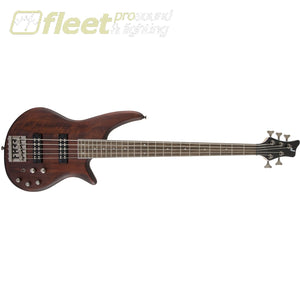 Jackson JS Series Spectra Bass JS3V Laurel Fingerboard 5 String Bass - Walnut Stain (2919005557) 5 STRING BASSES