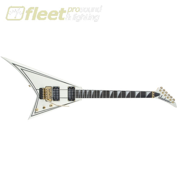 Jackson Pro Series Rhoads RR3 Ebony Fingerboard Ivory with Black Pinstripes (2914312557) LOCKING TREMELO GUITARS