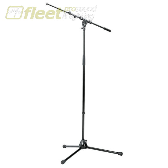 K&M 210/9-BLACK Professional Microphone Stand with Telescoping Boom Arm MIC STANDS