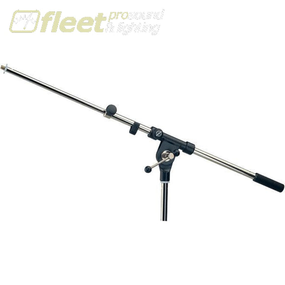 K&M 211/1-CHROME TELESCOPIC BOOM ARM WITH T-BAR LOCKING SCREW MIC STANDS