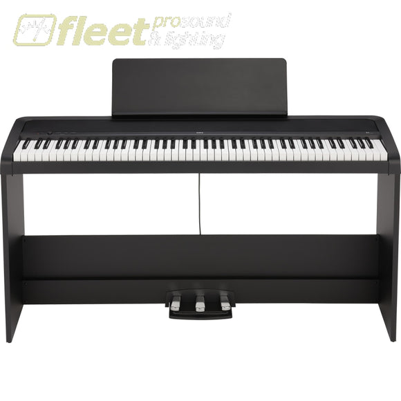 Korg B2SP-BK B2 Piano w/ Stand and 3 Pedals - Black DIGITAL PIANOS