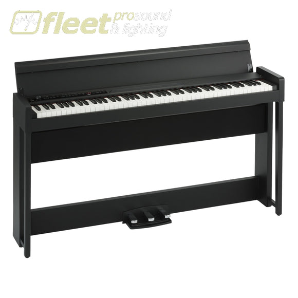 Korg C1Airbk 88-Key Rh3 Concert Piano With Bluetooth Audio Playing Bench Included Digital Pianos